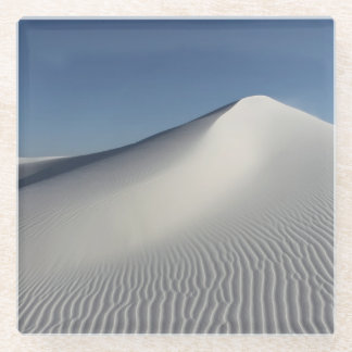 白い砂 ガラスコースター