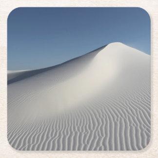 白い砂 スクエアペーパーコースター