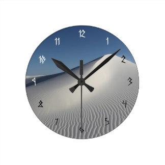 白い砂 ラウンド壁時計