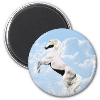 白い種馬の馬の養育 マグネット