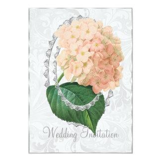 白い結婚式のアジサイの結婚式招待状カード カード