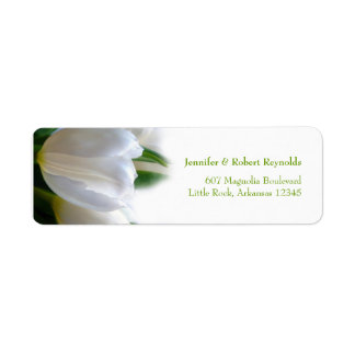 白い結婚式の宛名ラベル 返信用宛名ラベル