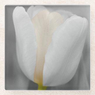白い結婚式の花 ガラスコースター