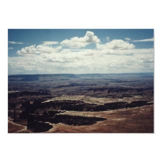 白い縁、Canyonlands、ユタ カード