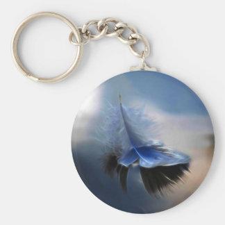 白い羽の航行 キーホルダー