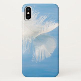 白い羽は水| Seabeck、WAに反映します iPhone X ケース