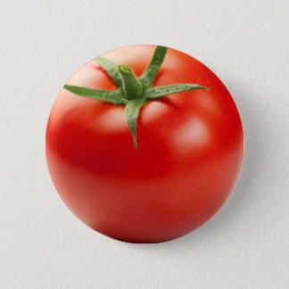 白い背景で隔離される新しく赤いトマト 5.7CM 丸型バッジ