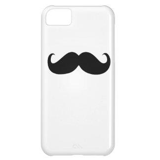 白い背景のおもしろいで黒い髭 iPhone5Cケース