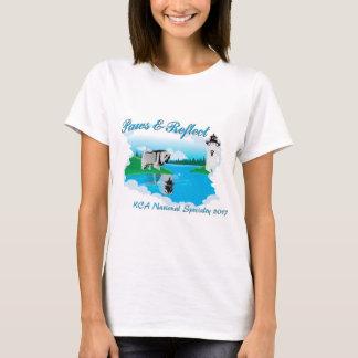 白い背景のためのKCAの国民のロゴ Tシャツ
