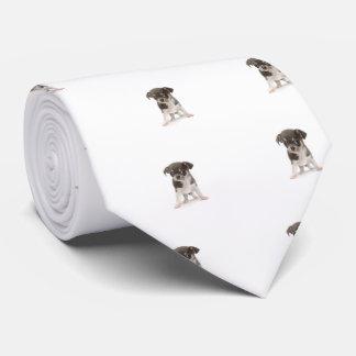 白い背景のチワワの子犬の地位 オリジナルネクタイ