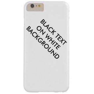 白い背景の箱の黒い文字 BARELY THERE iPhone 6 PLUS ケース