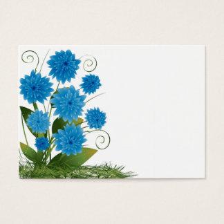 白い背景の青い花 名刺