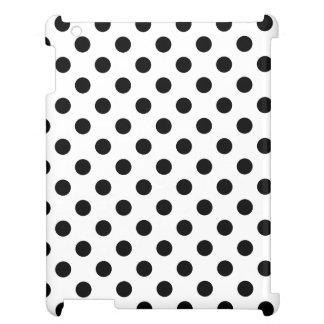 白い背景の黒い水玉模様 iPad CASE