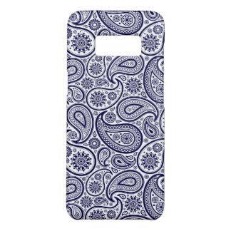 白い背景上の青いペイズリー Case-Mate SAMSUNG GALAXY S8ケース