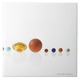 白い背景2の太陽系の惑星 タイル