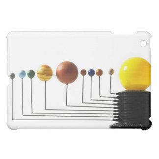 白い背景3の太陽系モデル iPad MINI CASE