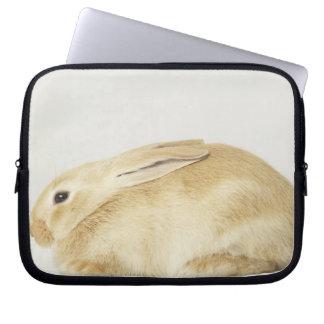 白い背景4のベージュバニーウサギ ラップトップスリーブ