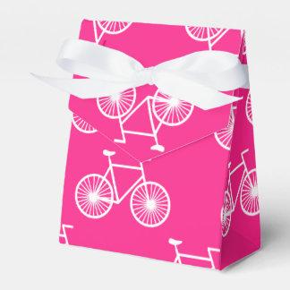 白い自転車、循環パターン; ネオンのピンク フェイバーボックス