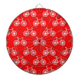 白い自転車、循環パターン; 明るい赤 ダーツボード