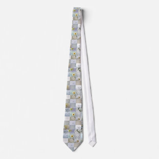 白い色の写真のコラージュ ネクタイ