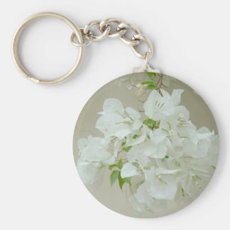 白い花と分岐させて下さい キーホルダー