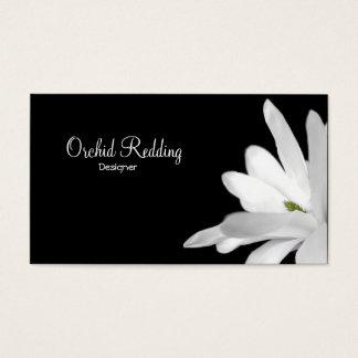 白い花のエキゾチックな花屋の結婚式 名刺