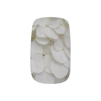 白い花のテーマのMinxのネイルアートのデカール ネイルアート