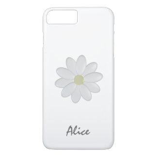 白い花の名前をカスタムするのiPhone 7プラスCaeを選抜して下さい iPhone 8 Plus/7 Plusケース