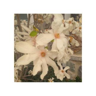 白い花の木製の芸術 ウッドウォールアート