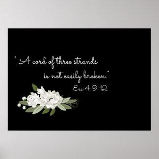 白い花の結婚式の小枝の詩ポスター ポスター