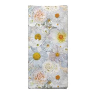 白い花の花束の花の結婚式の花嫁の春 ナプキンクロス