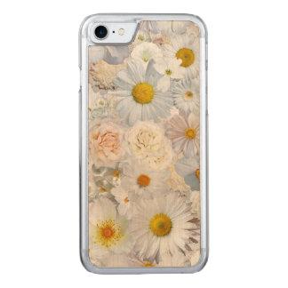 白い花の花束の花の結婚式の花嫁の春 CARVED iPhone 8/7 ケース