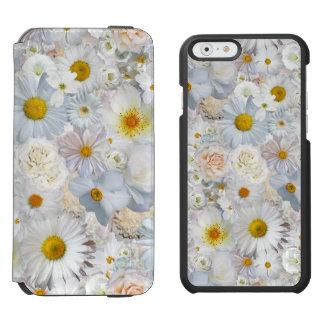 白い花の花束の花の結婚式の花嫁の春 INCIPIO WATSON™ iPhone 6 財布ケース