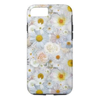 白い花の花束の花の結婚式の花嫁の春 iPhone 8/7ケース