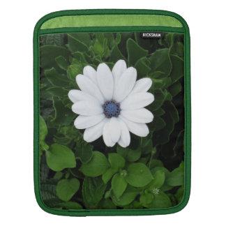 白い花のiPadの袖 iPadスリーブ