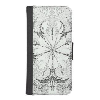 白い花のiPhone 5/5sのウォレットケース iPhoneSE/5/5sウォレットケース