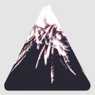 白い花火 三角形シール