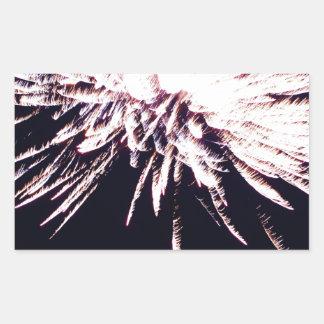 白い花火 長方形シール