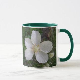 白い花2 マグカップ