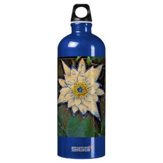 白い花   を離れたエレガントなabstarct ウォーターボトル