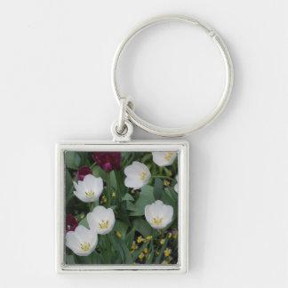 白い花 キーホルダー