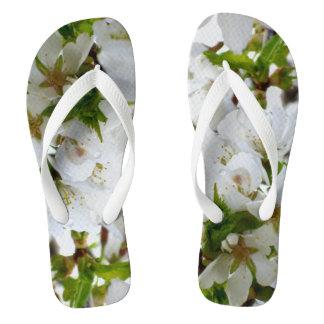 白い花 ビーチサンダル