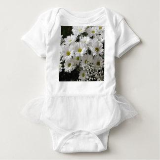 白い花 ベビーボディスーツ