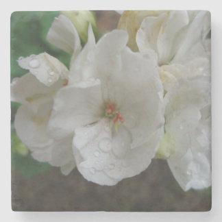 白い花 石 コースター