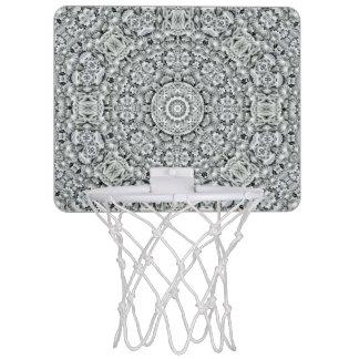 白い葉パターン小型バスケットボールのゴール ミニバスケットボールゴール