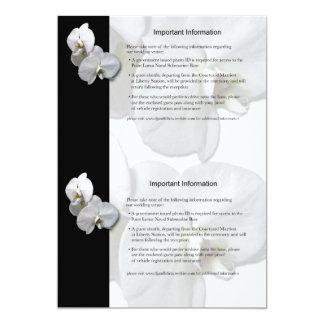 白い蘭の情報シート3 カード