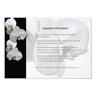 白い蘭の情報シート カード