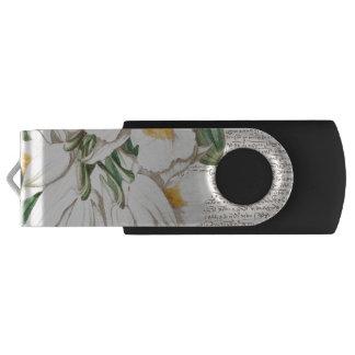 白い蘭の書道 USBフラッシュドライブ