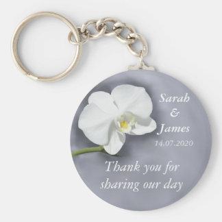 白い蘭の結婚式の引き出物のキーホルダー キーホルダー