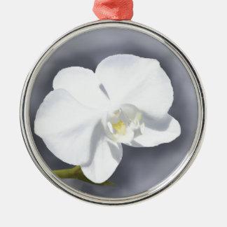 白い蘭の花 メタルオーナメント